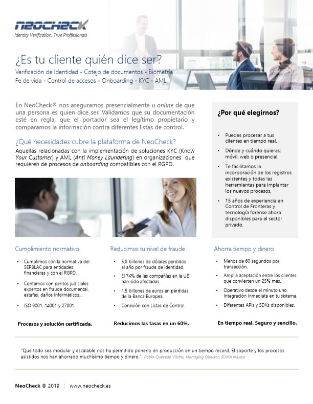 One Pager NeoCheck-Microsoft