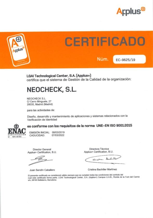 ISO-9001-2005 neocheck